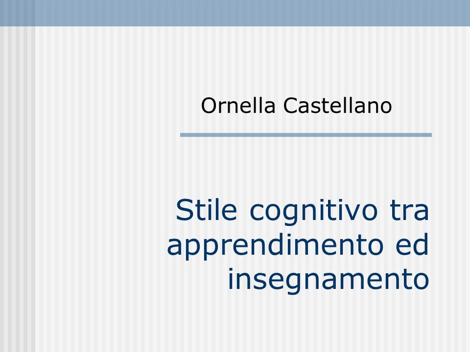 Stile cognitivo tra apprendimento ed insegnamento