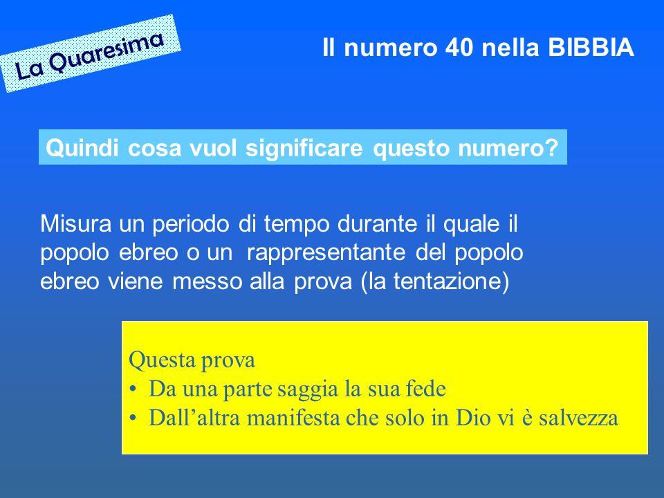 La Quaresima Il numero 40 nella BIBBIA