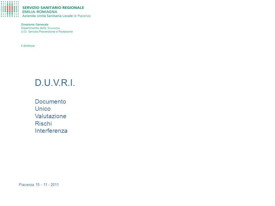 D.U.V.R.I. Documento Unico Valutazione Rischi Interferenza