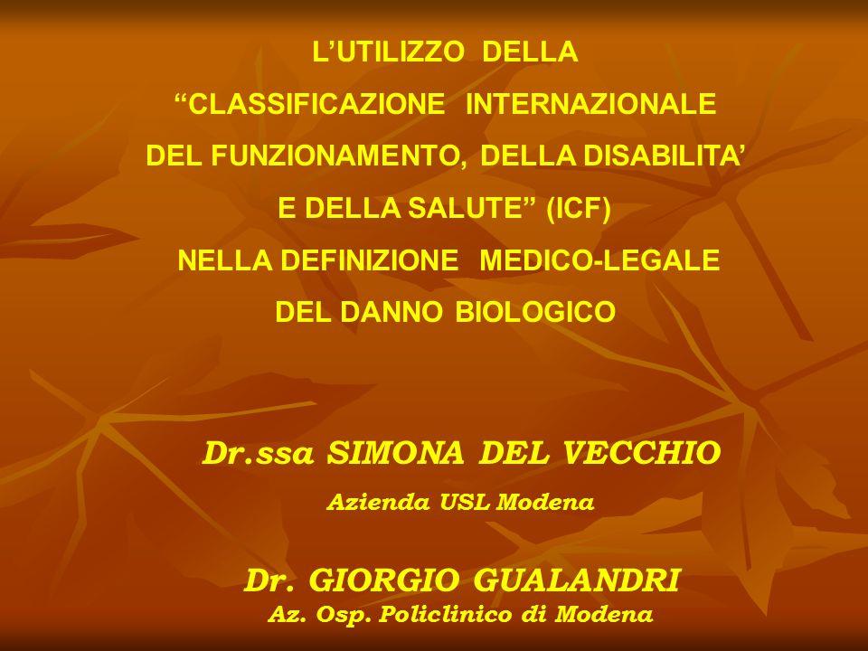 Dr.ssa SIMONA DEL VECCHIO Dr. GIORGIO GUALANDRI