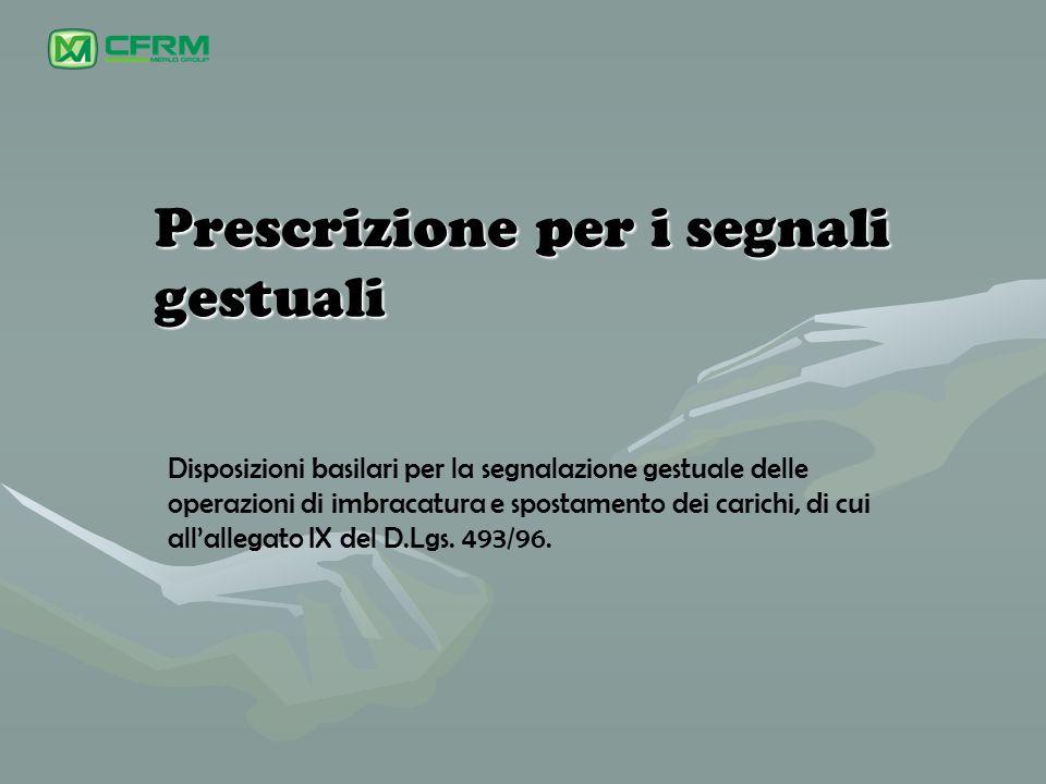 Prescrizione per i segnali gestuali