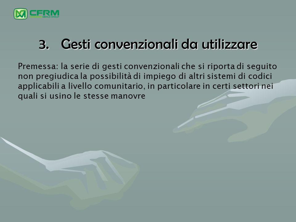 Gesti convenzionali da utilizzare
