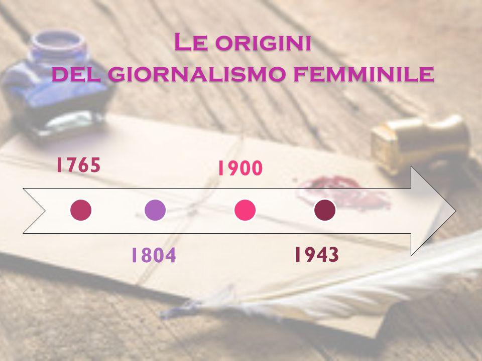 Le origini del giornalismo femminile