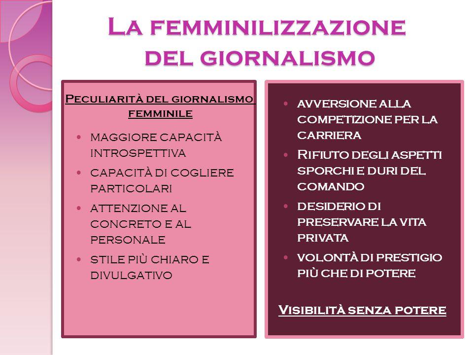 La femminilizzazione del giornalismo