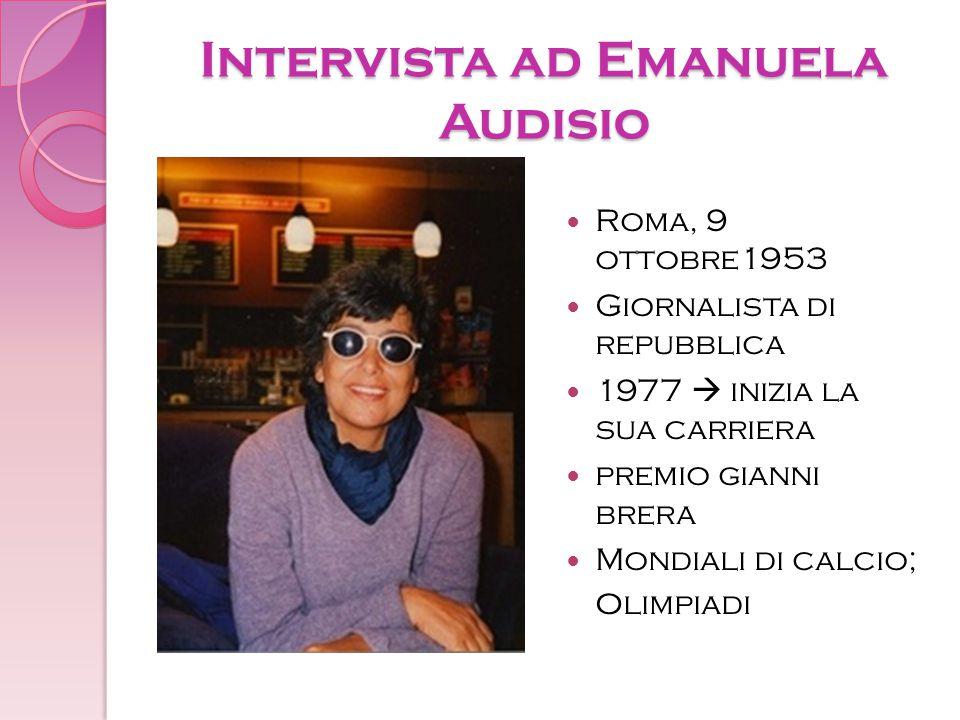 Intervista ad Emanuela Audisio