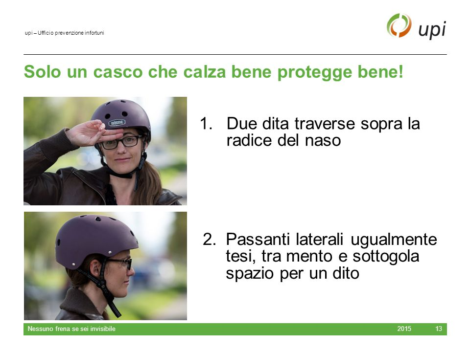 Solo un casco che calza bene protegge bene!