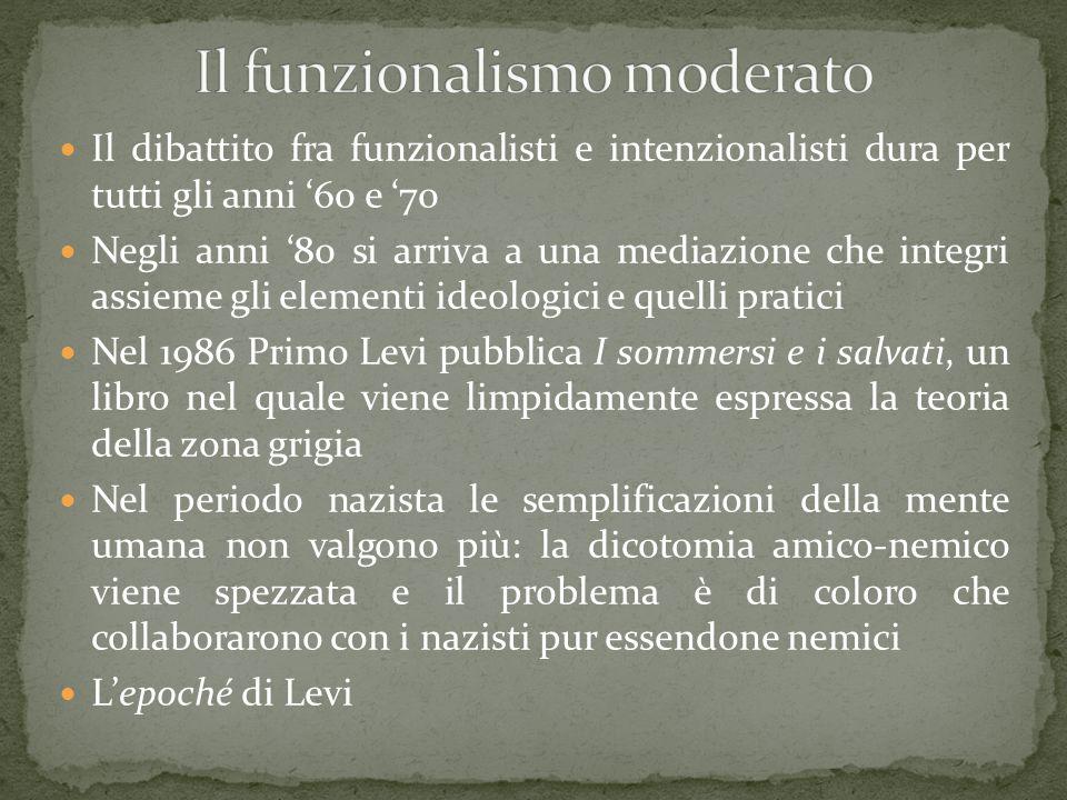 Il funzionalismo moderato