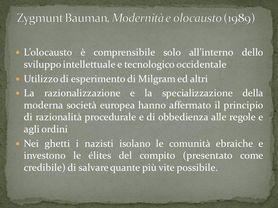 Zygmunt Bauman, Modernità e olocausto (1989)
