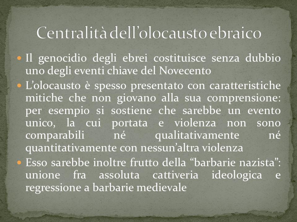 Centralità dell'olocausto ebraico