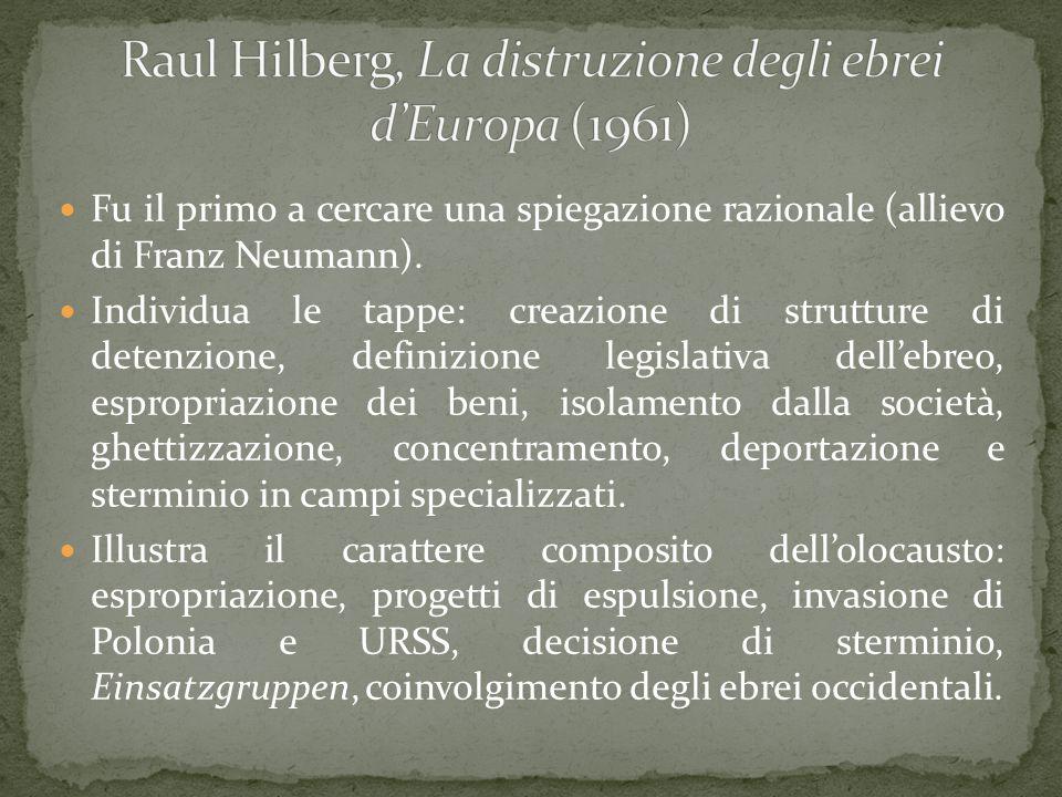Raul Hilberg, La distruzione degli ebrei d'Europa (1961)