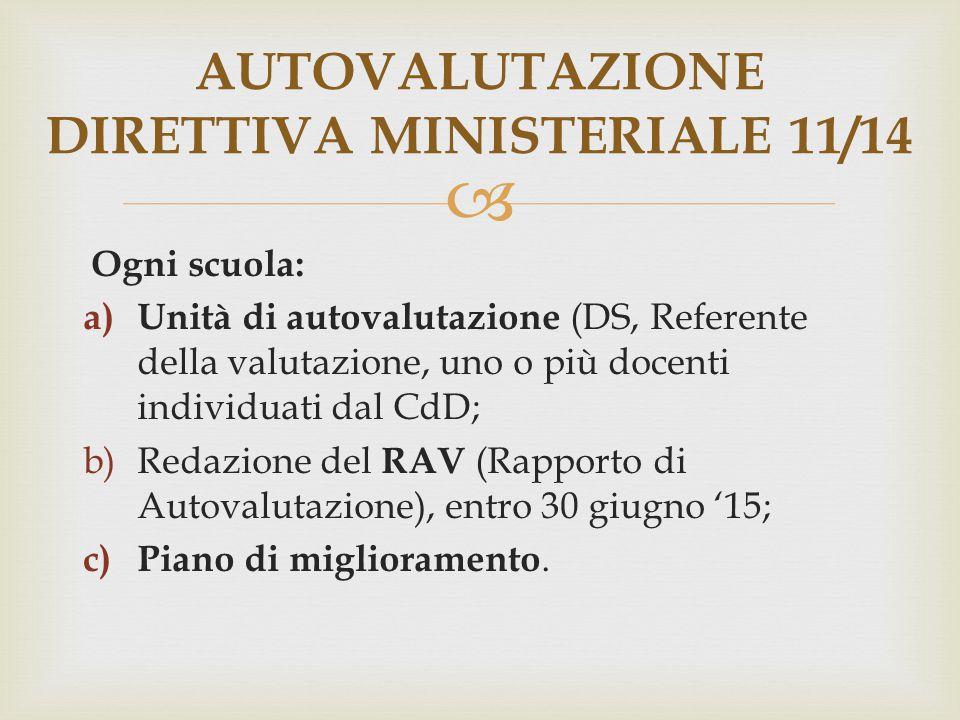 AUTOVALUTAZIONE DIRETTIVA MINISTERIALE 11/14