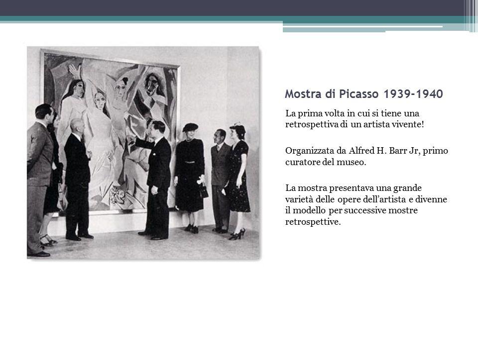 Mostra di Picasso 1939-1940 La prima volta in cui si tiene una retrospettiva di un artista vivente!