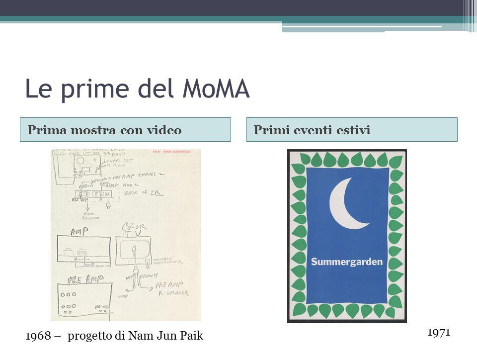 Le prime del MoMA Prima mostra con video Primi eventi estivi 1971