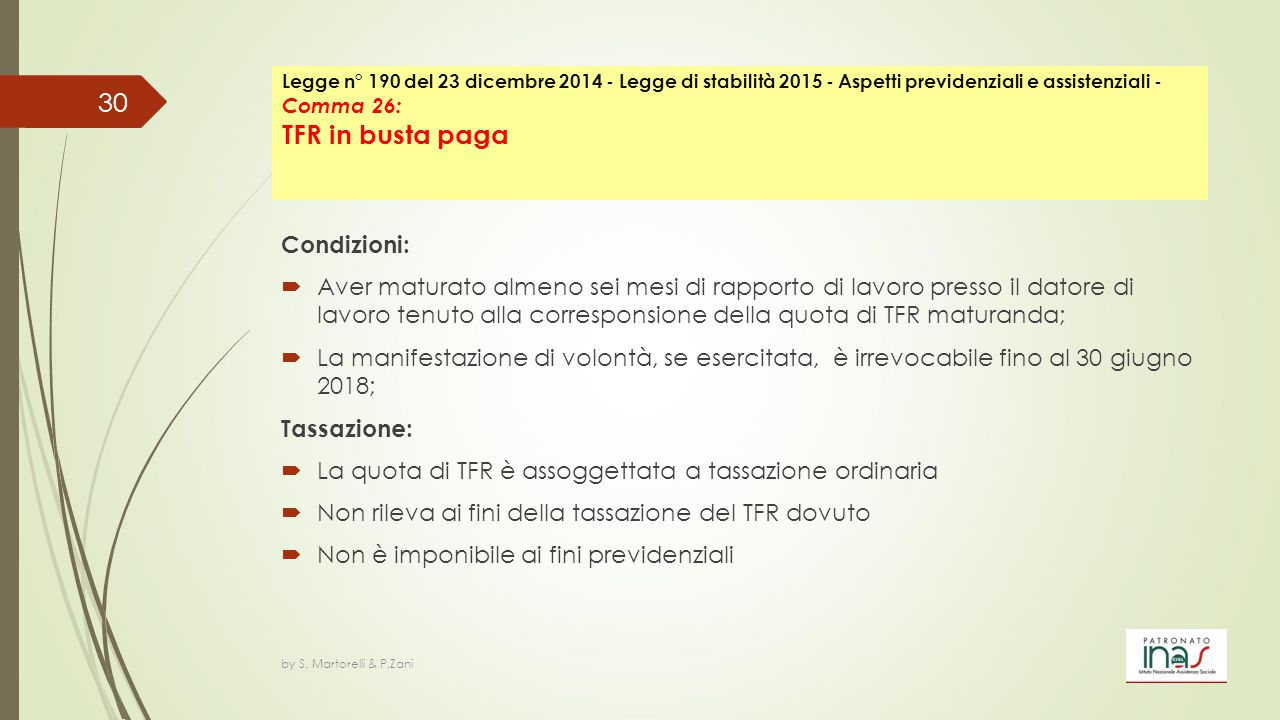 La quota di TFR è assoggettata a tassazione ordinaria