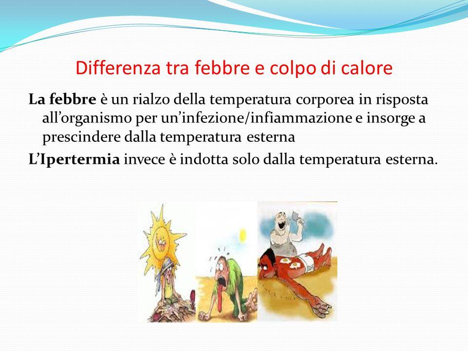Differenza tra febbre e colpo di calore