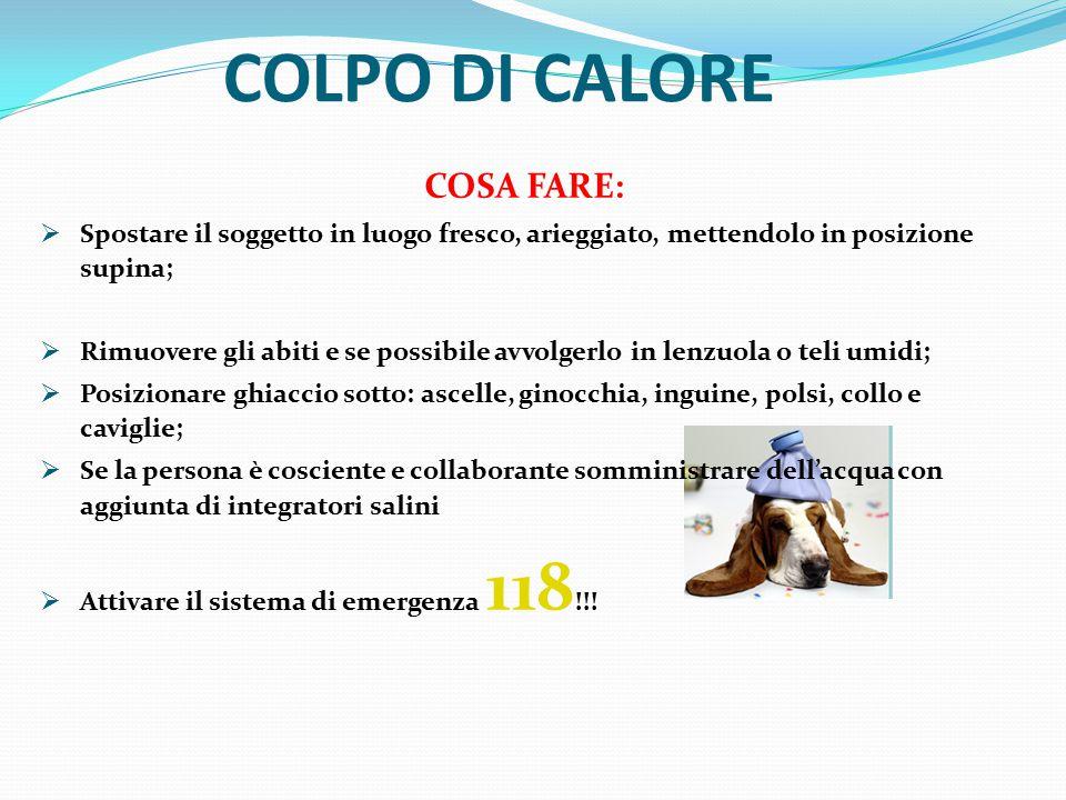 COLPO DI CALORE COSA FARE: