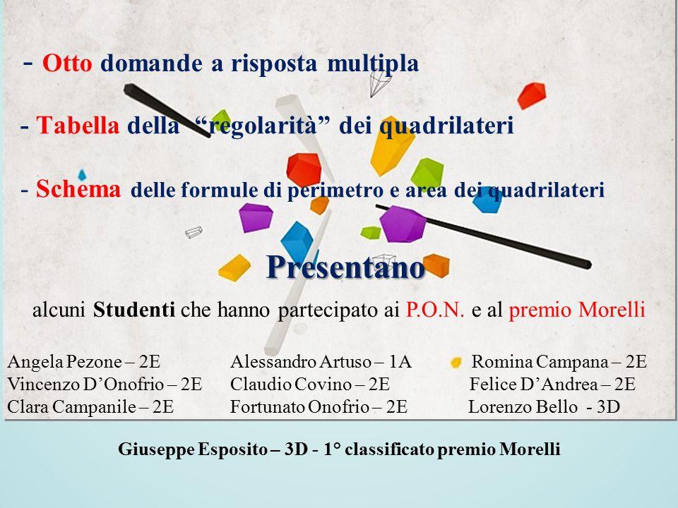 Giuseppe Esposito – 3D - 1° classificato premio Morelli