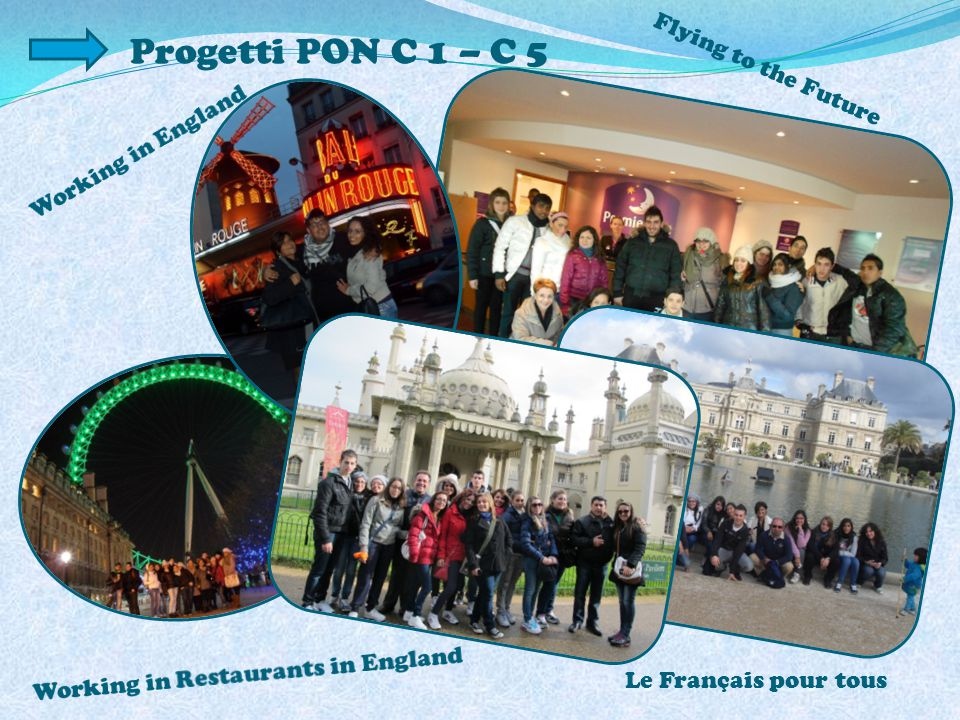 Progetti PON C 1 – C 5 Flying to the Future Working in England