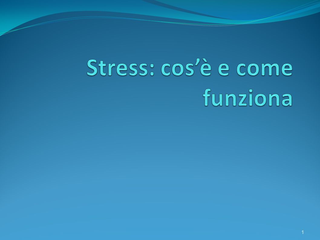 Stress: cos'è e come funziona