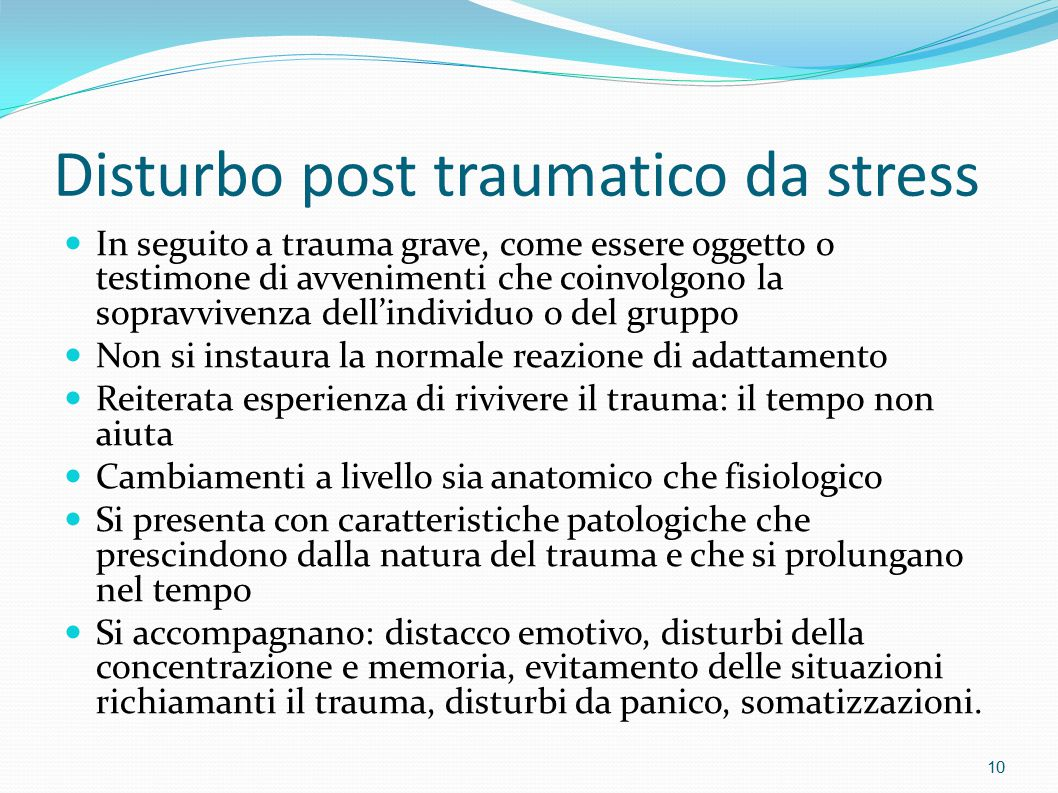 Disturbo post traumatico da stress