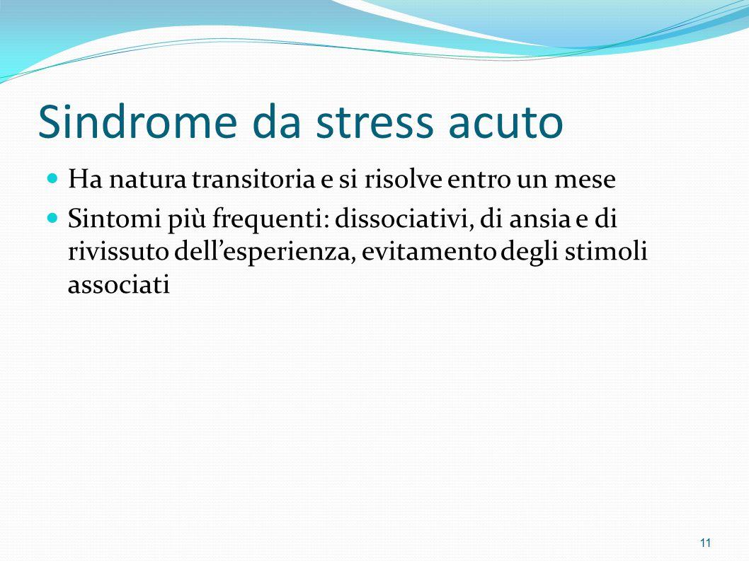 Sindrome da stress acuto