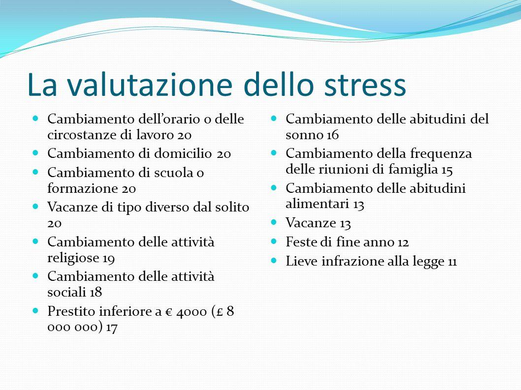 La valutazione dello stress