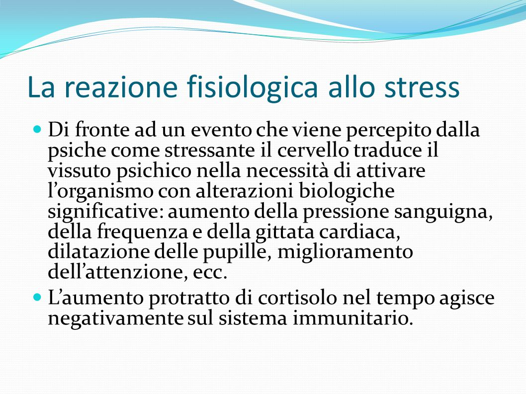 La reazione fisiologica allo stress