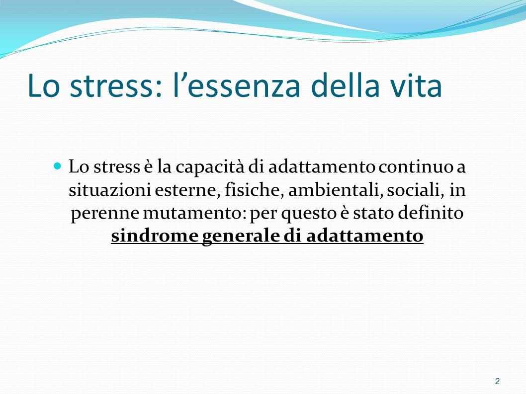Lo stress: l'essenza della vita