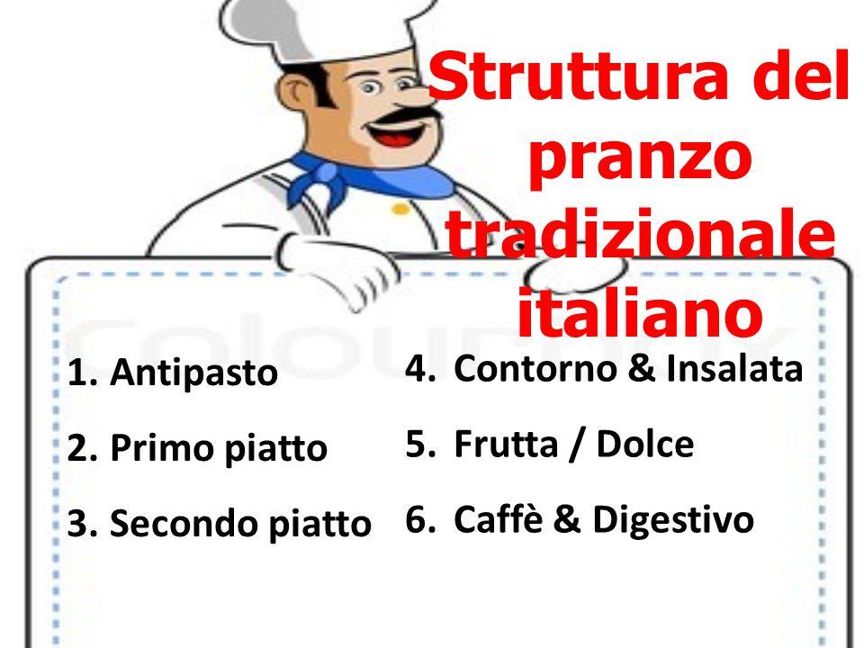 Struttura del pranzo tradizionale italiano