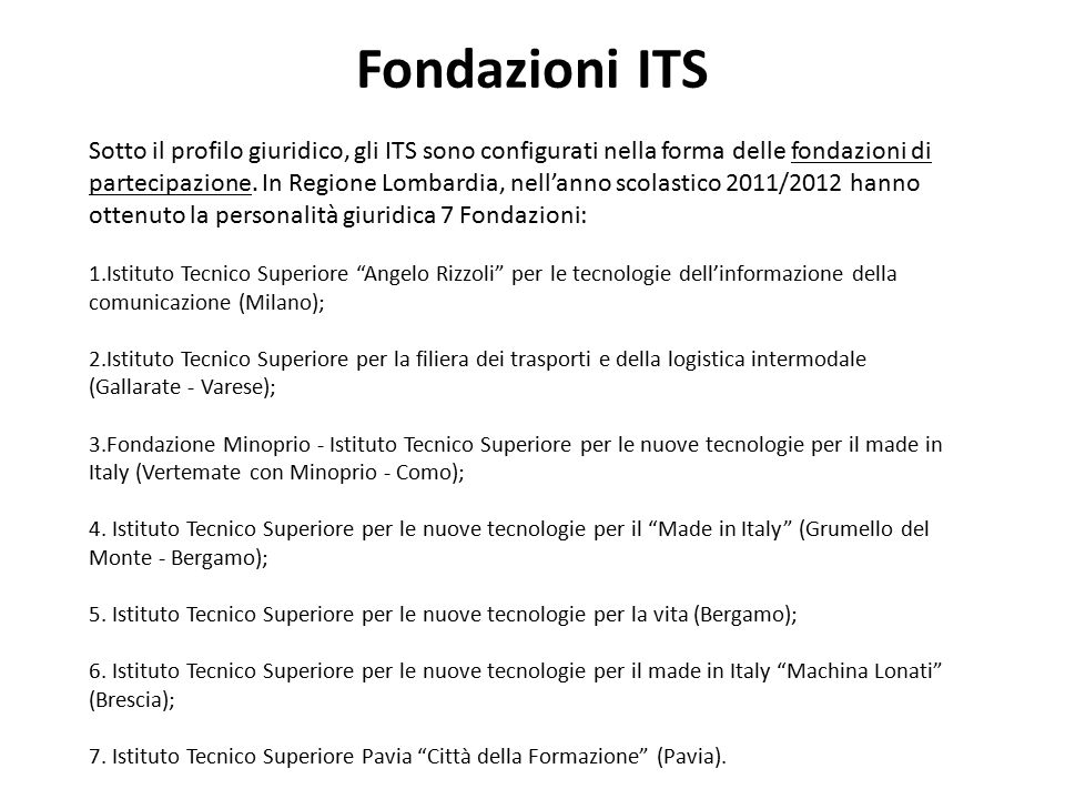 Fondazioni ITS
