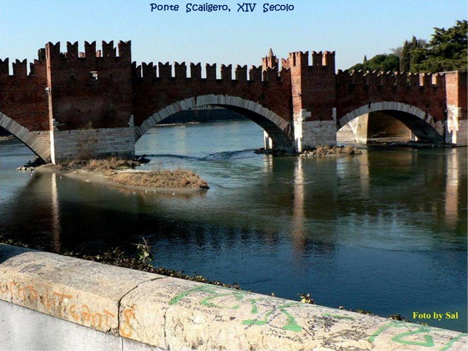 Ponte Scaligero, XIV Secolo