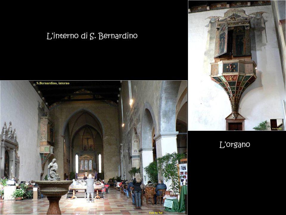 L'interno di S. Bernardino