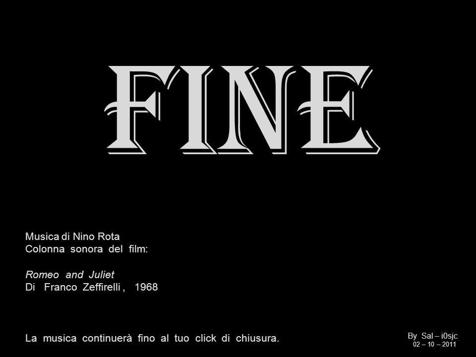 FINE Musica di Nino Rota Colonna sonora del film: Romeo and Juliet