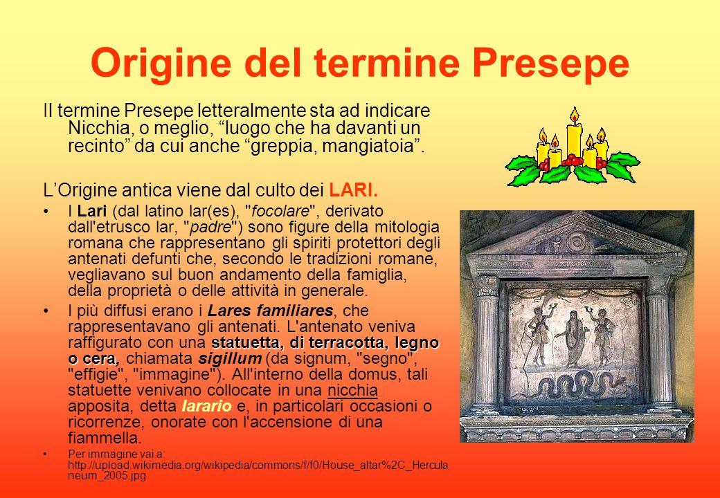 Origine del termine Presepe