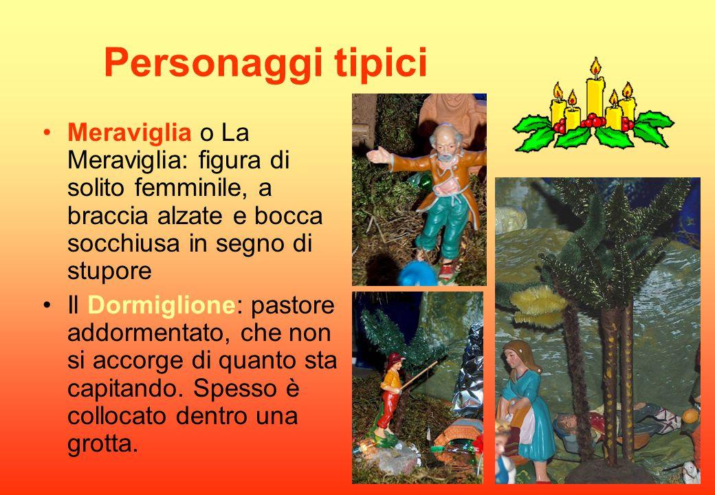 Personaggi tipici Meraviglia o La Meraviglia: figura di solito femminile, a braccia alzate e bocca socchiusa in segno di stupore.