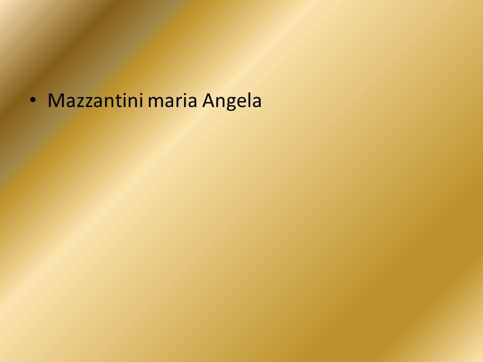 Mazzantini maria Angela