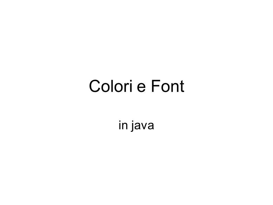 Colori e Font in java