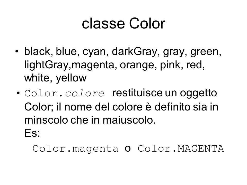 Color.magenta o Color.MAGENTA