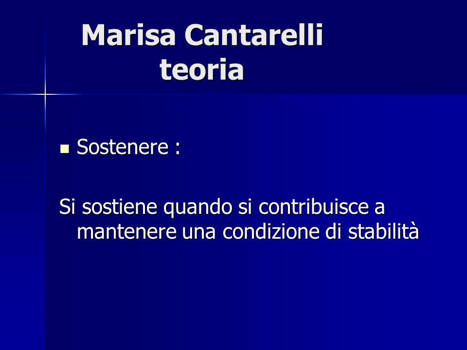Marisa Cantarelli teoria