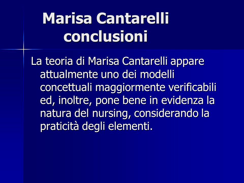Marisa Cantarelli conclusioni