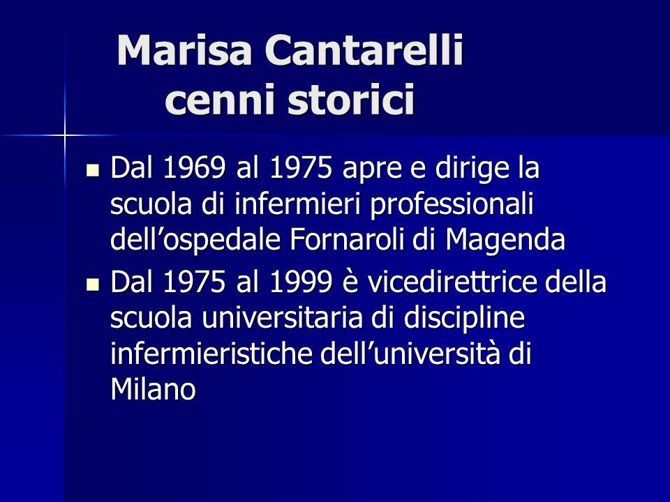 Marisa Cantarelli cenni storici