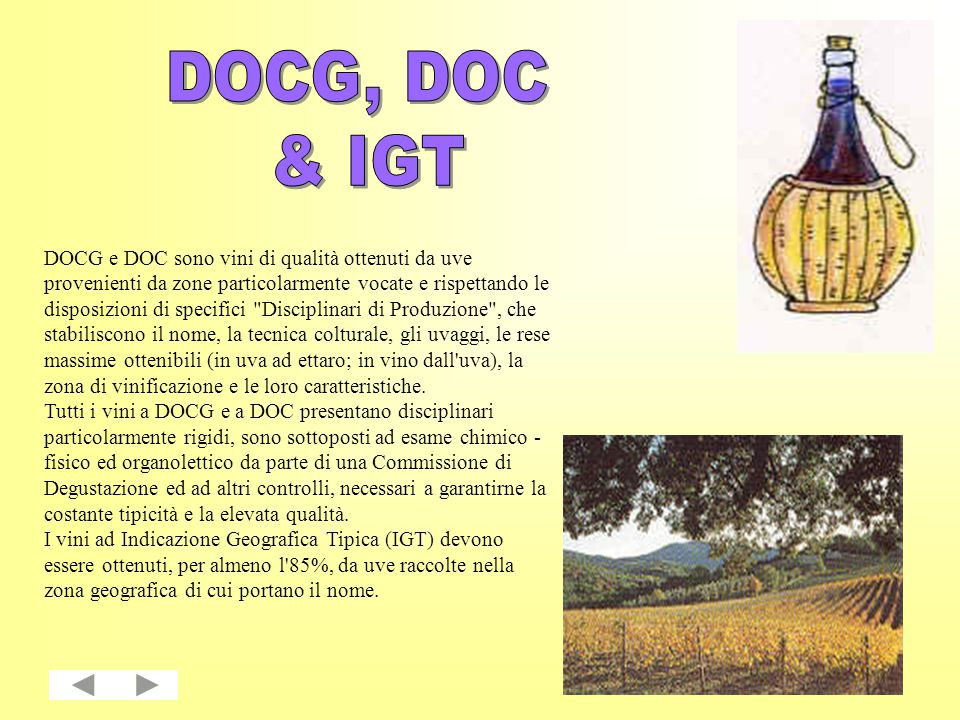 DOCG, DOC & IGT.