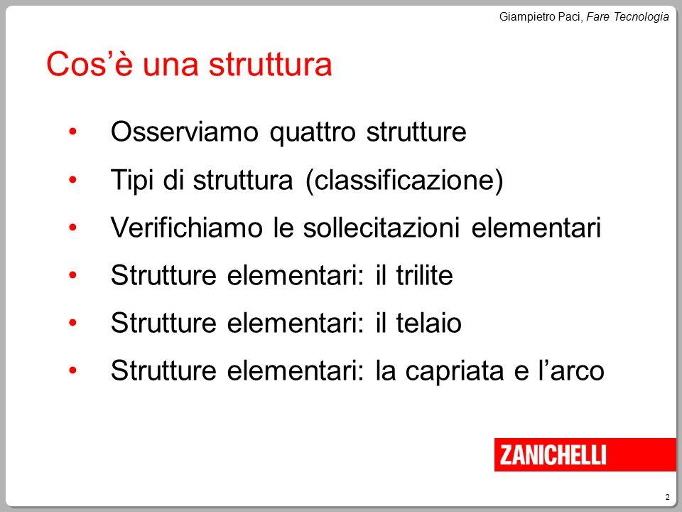 Cos'è una struttura Osserviamo quattro strutture