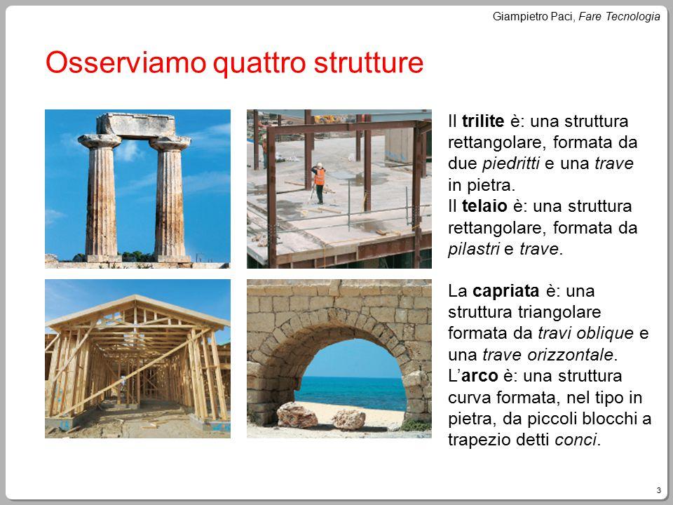 Osserviamo quattro strutture