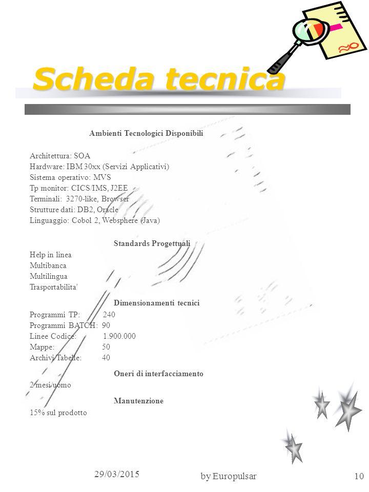 Scheda tecnica 09/04/2017 by Europulsar