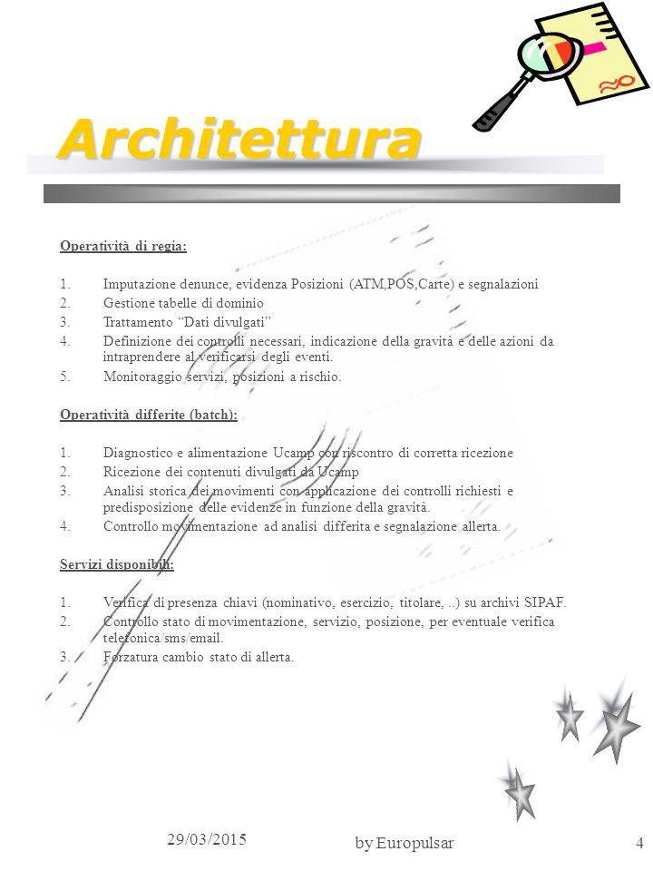 Architettura 09/04/2017 by Europulsar Operatività di regia: