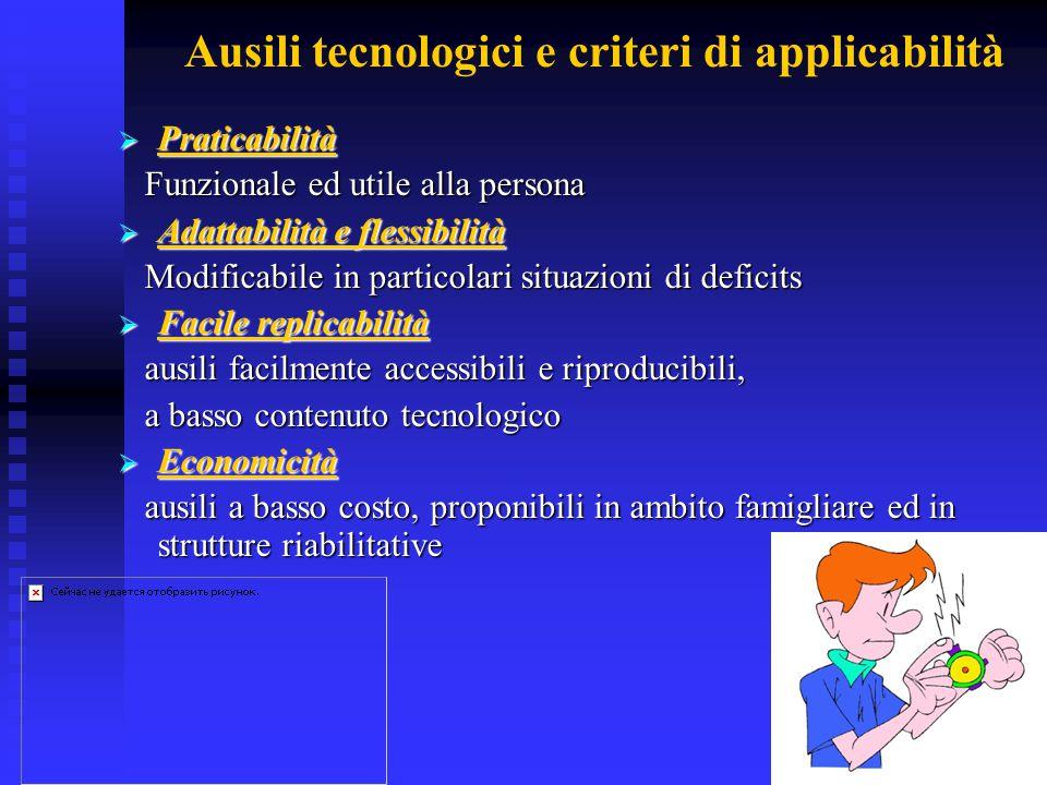 Ausili tecnologici e criteri di applicabilità