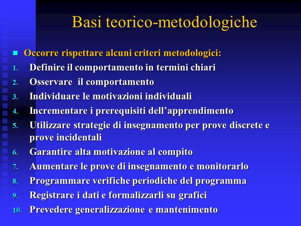 Basi teorico-metodologiche