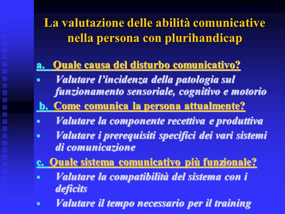 La valutazione delle abilità comunicative nella persona con plurihandicap