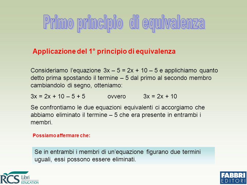 Primo principio di equivalenza